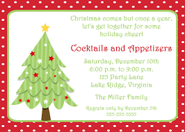 christmas cocktails party invitation card design idea to send to