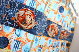 Orange And Blue Shower Curtain Decorate My Home Part 15 Shower Curtain Make It And Love It