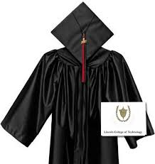 college cap and gown lct gown cap tassel invitations lincoln college