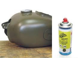 khaki spray can oldtimer garage