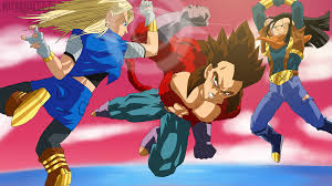 android 17 and 18 android 17 and 18 vs ssj4 vegeta by mitchell1406 on
