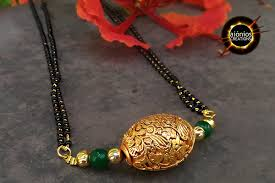 small necklace designs images Small mangalsutra design navyaa aionios creations jpg