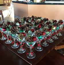 christmas martini christmas martini glass centerpiece diy my crafts pinterest