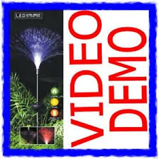 Colour Changing Solar Garden Lights - colour changing led fibre optic solar garden light ebay