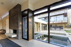nice modern windows house that can be decor with wooden floor can