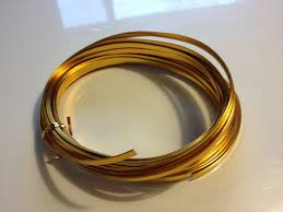 brown floral wire gold flat wire 32 8 gold wire aluminum wire floral wire