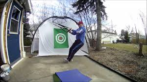 outdoor golf practice with new chipping net youtube