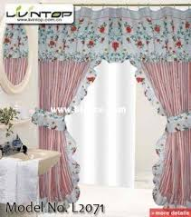 Double Swag Shower Curtain With Valance Double Panel Shower Curtains Better Home Double Swag Shower