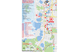 Orlando Outlets Map hop on hop off bus tour orlando city sightseeing