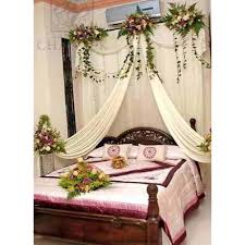 wedding bedroom decoration with flowers and candles inspirations