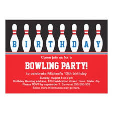 birthday invites simple bowling birthday party invitations