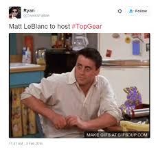 Joey Friends Meme - twitter erupts in friends memes after matt leblanc is named top