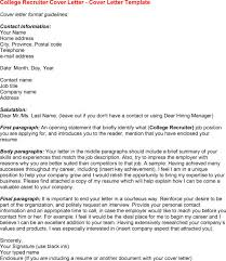 epic sample cover letter for recruiter job 77 for images of cover