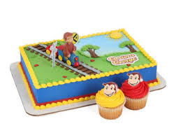 curious george cake topper curious george on a cake topper decor decoration cupcake