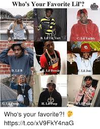 Lil B Memes - who s your favorite lil b lif uzi vert c lil yach d lil b lil
