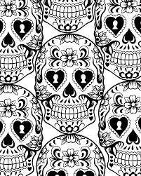 stylish ideas dia de los muertos printable coloring pages sugar