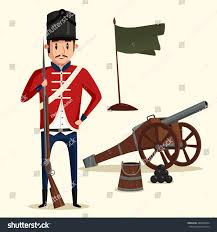 French Flag Revolutionary War French Army Soldier Musket Near Pyramid Stock Vector 486879604