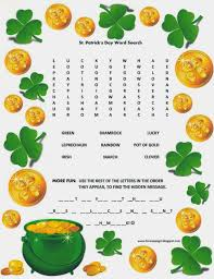 Halloween Word Search Free Printable Florassippi St Patrick U0027s Day Word Search Free Printable