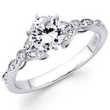 milgrain engagement ring 14k white gold milgrain engagement ring goldenmine