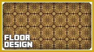 minecraft how to build a floor design tutorial easy survival