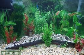 heritage ws021l aquarium fish tank large titanic boat ship wreck
