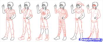learn how to draw scene clothes figures people free step by