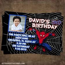 spider man birthday invitations printable or invite prints