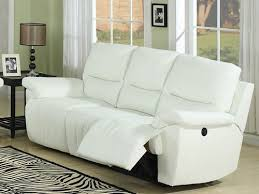 White Leather Recliner Sofa Outstanding Terrific White Leather Recliner Sofa White Leather