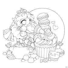 chibi anime coloring pages coloring