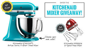 Kitchen Aid Colors by Kitchenaid Mixer Giveaway From You Nifty Thing Youtube
