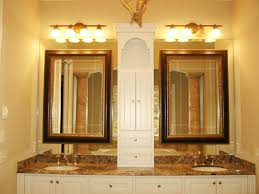 Bathroom Mirrors And Lighting Ideas Gold Bathroom Mirror Home Design Ideas And Pictures