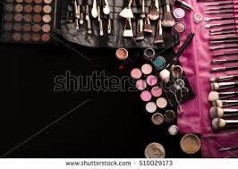 makeup artist equipment makeup artist desk stock photo 509563810
