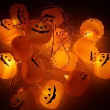 16 pcs led halloween pumpkin string lights orange red in led