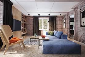 Red Brick Wall Living Room Centerfieldbar Com