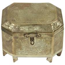 Persian Furniture Store In Los Angeles Antique Persian Islamic Brass Box With Calligraphy For Sale At 1stdibs