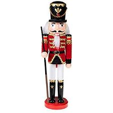 Wooden Nutcracker Soldiers Christmas Decorations 2 Pack by Amazon Com Classic Drummer Nutcracker Traditional Red U0026 Gold