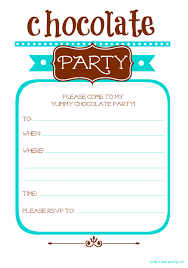 party invitation winter chocolate party free invites and tags julie party co