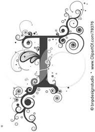 tattoo lettering designs a letter j woven in with a ying yang