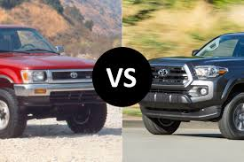 lexus pickup truck 2016 old vs new 1995 toyota tacoma vs 2016 toyota tacoma the fast