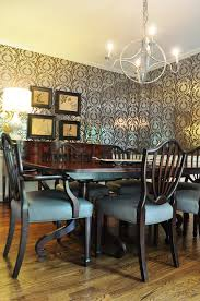 Coastal Dining Room Glamorous Color Style With Chairs