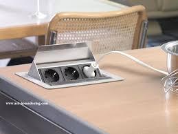 bloc prise cuisine escamotable prise electrique encastrable cuisine idées décoration intérieure