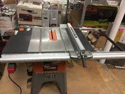 ridgid 13 10 in professional table saw ridgid 13 amp 10 in professional cast iron table saw used in