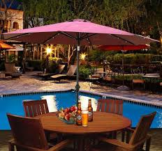 Patio Umbrella Led Lights by Affordable Variety 9 U0027 Outdoor Patio Umbrella With Tilt U0026 Solar