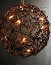 Light Up Topiary Balls - twine spheres diy twine cord and lights