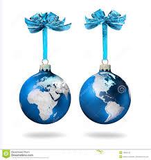 blue glass balls silver world stock photo image 19666156
