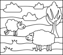 sheep coloring ใบงานศ ลปะ animal