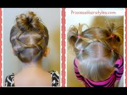 gymnastics picture hair style shoelace knot hairstyles for gymnastics and sports youtube