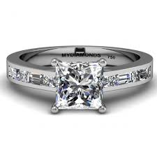 engagement rings princess cut white gold grazia princess cut engagement ring