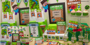 minecraft party printable minecraft party collection creative