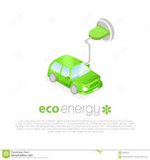 electric vehicles logo electric car charging eco energy concept icon stock vector